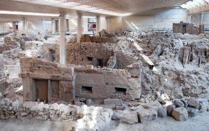 Akrotiri santorini - Prehistoric Town of Akrotiri, Santorini.