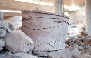 Akrotiri tub - Prehistoric Town of Akrotiri, Santorini.