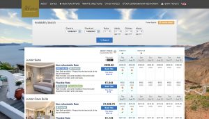 Reservation website of Athina Luxury Suites