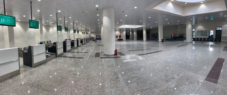 New airport of Santorini