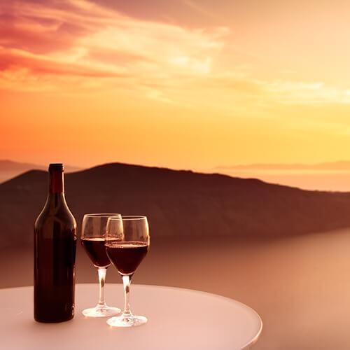Santorini wine caldera