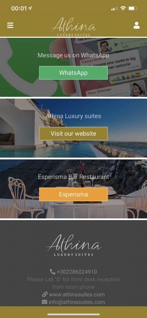 4 - The new iOS/Android app of Athina Luxury Suites is here!